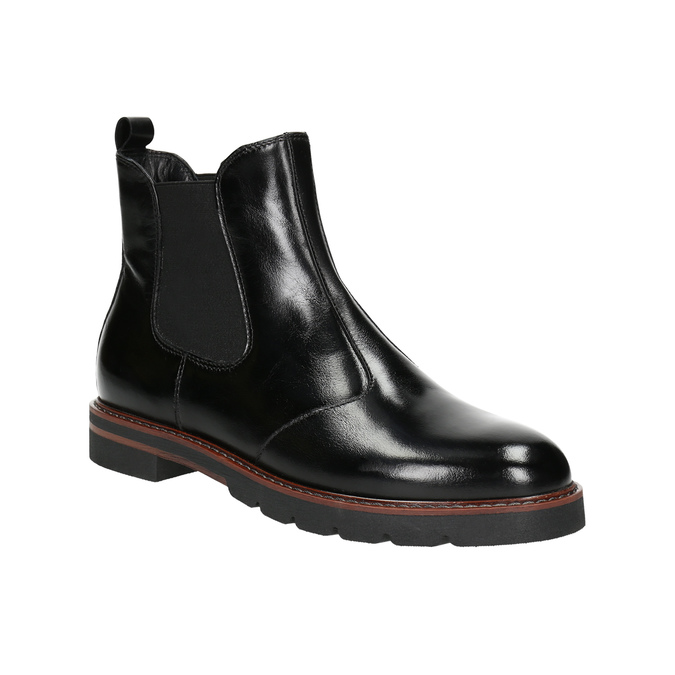 Ladies' leather Chelsea boots bata, black , 596-6657 - 13