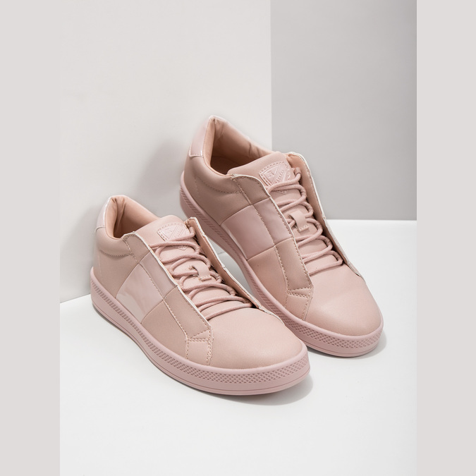 Ladies' Pink Sneakers, red , 501-5171 - 18