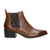 Ladies' leather heeled Chelsea boots vagabond, brown , 614-4020 - 15