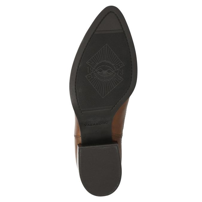 Ladies' leather heeled Chelsea boots vagabond, brown , 614-4020 - 19