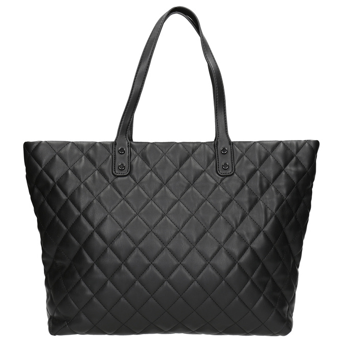 Quilted Handbag with Chain bata, black , 961-6139 - 26