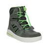 Children's Leather Winter Boots weinbrenner-junior, gray , 493-2613 - 13