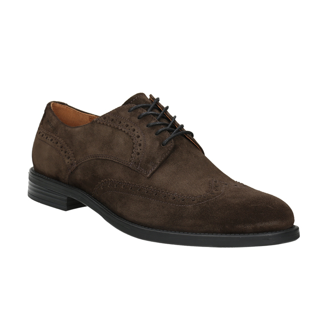 Men's Leather Brogue Lace-Ups vagabond, brown , 823-4017 - 13