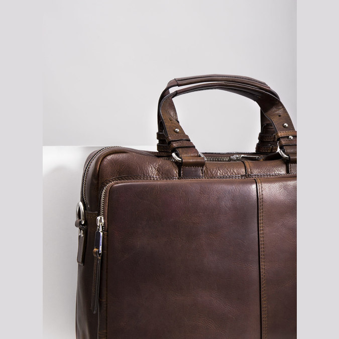 The Seymur Briefcase Bag, brown , 964-4106 - 14