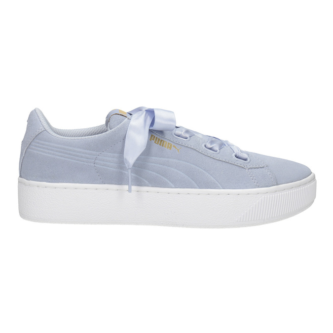 Ladies' Leather Sneakers puma, blue , 503-9169 - 26