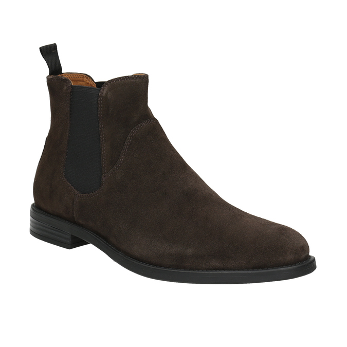 Men's Leather Chelsea Boots vagabond, brown , 813-4019 - 13