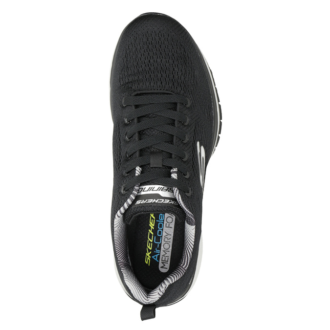 Black Men's Sneakers skechers, black , 809-6330 - 15