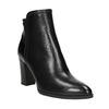 Ladies' Leather Ankle Boots bata, black , 794-6650 - 13
