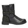 Girls' High Boots with Rhinestones mini-b, black , 291-6395 - 26