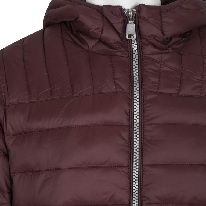 Men's Quilted Jacket with Hood bata, red , 979-5143 - 16