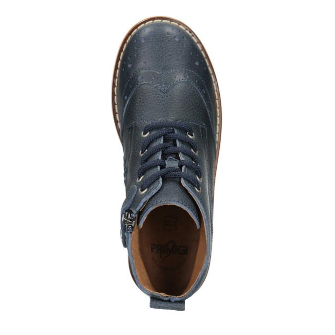 Children's Leather Ankle Boots primigi, blue , 314-9004 - 15