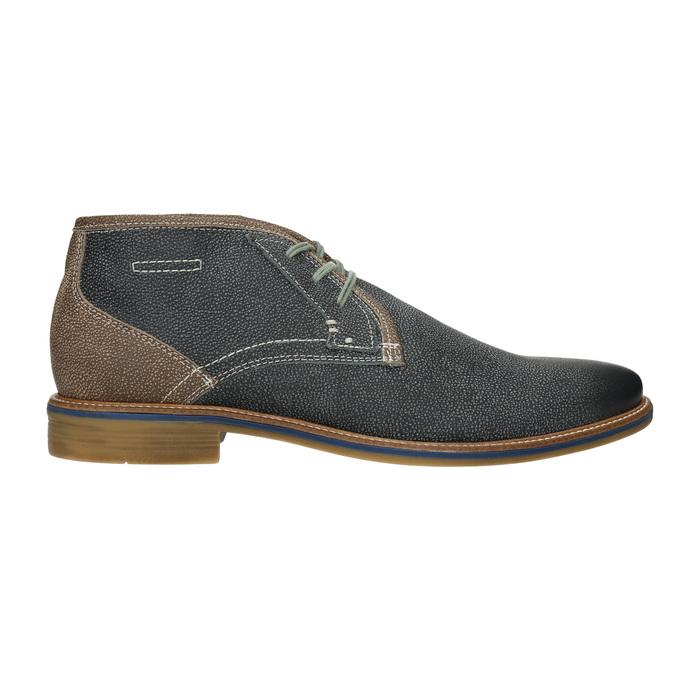 Men's leather ankle boots bata, blue , 826-9920 - 26