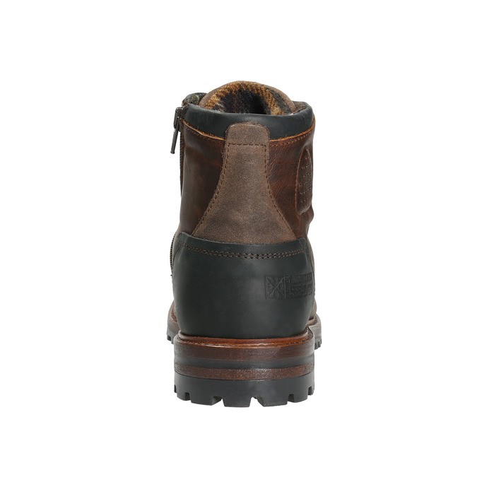 Leather Men's Boots with a Sturdy Sole bata, brown , 896-4665 - 17