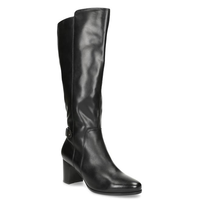 Ladies' Leather High Boots bata, black , 694-6639 - 13