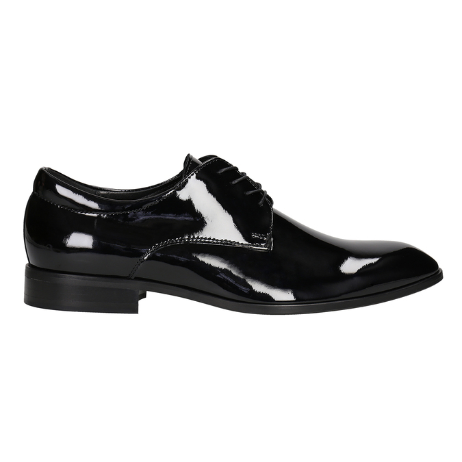 Men's patent leather shoes conhpol, black , 828-6605 - 26