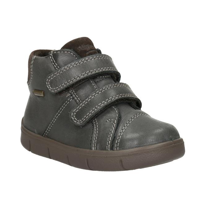 Children's leather ankle boots, brown , 114-4028 - 13