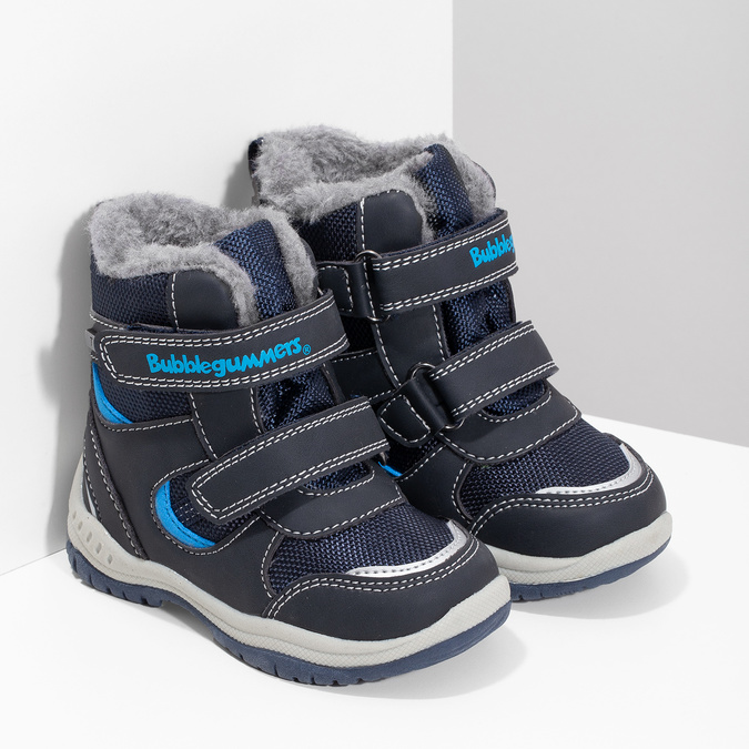 Children's Winter Boots with Fleece bubblegummer, blue , 199-9602 - 26