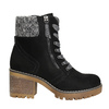 Ankle Boots with Chunky Heel bata, black , 699-6633 - 15