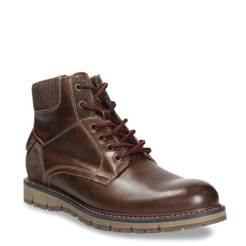 Men's Winter Ankle Boots bata, brown , 896-4657 - 13