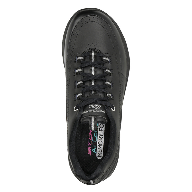 Ladies' black sneakers skechers, black , 501-6317 - 15