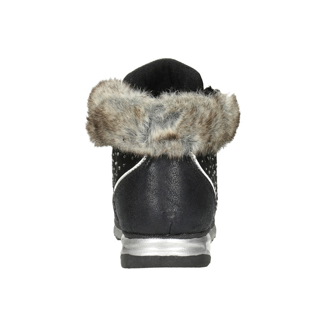 Children's winter boots with rhinestones mini-b, black , 329-6287 - 16
