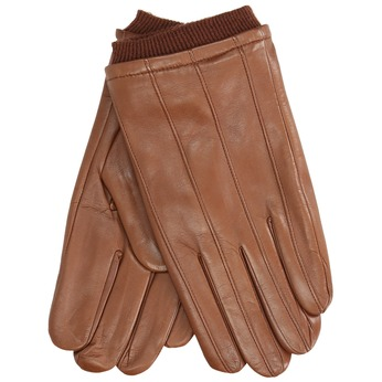 Brown leather gloves bata, brown , 904-3117 - 13
