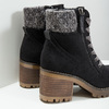 Ankle Boots with Chunky Heel bata, black , 699-6633 - 14