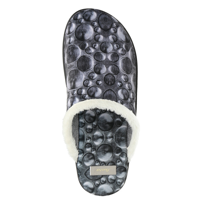 Ladies' grey slippers bata, gray , 579-2622 - 26