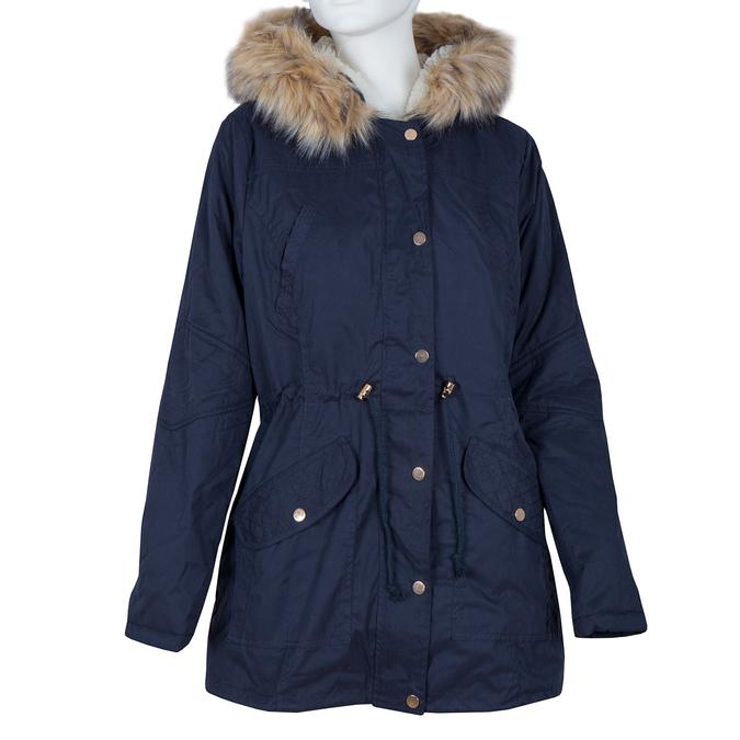 Ladies' Parka with Removable Fur bata, blue , 979-9131 - 13
