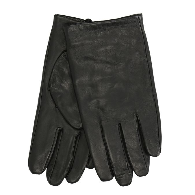 Black leather gloves bata, black , 904-6130 - 13