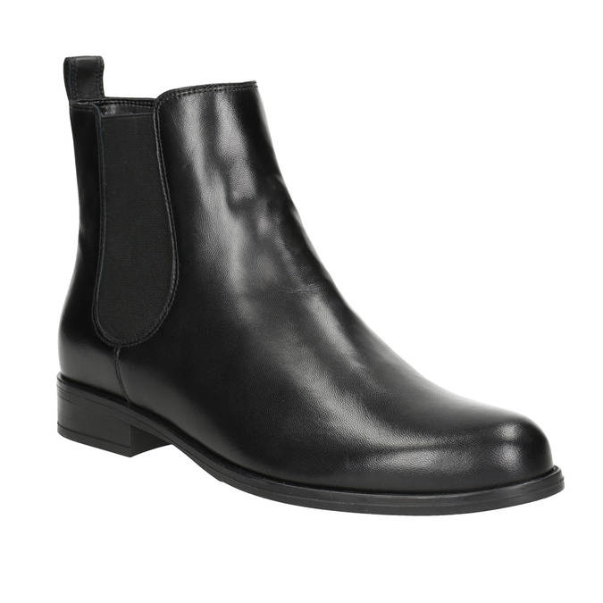 Ladies' Leather Chelsea Boots bata, black , 594-6661 - 13