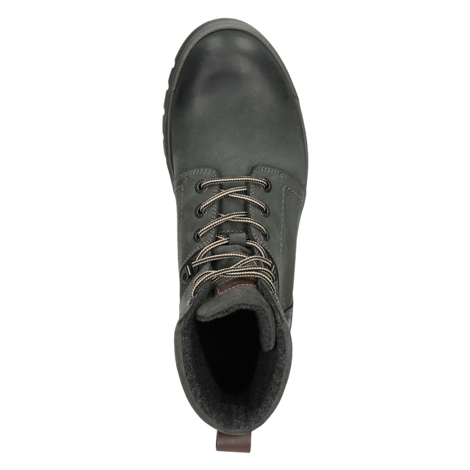 Leather Ankle Boots weinbrenner, gray , 896-2703 - 15