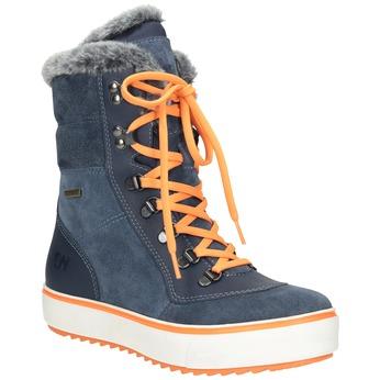 Ladies' leather snow boots weinbrenner, blue , 593-9601 - 13