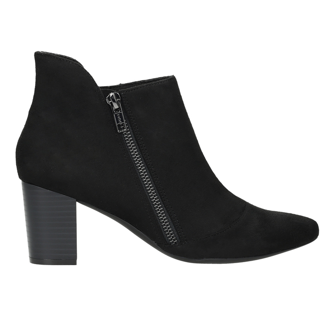 Heeled leather ankle boots rockport, black , 713-6056 - 16