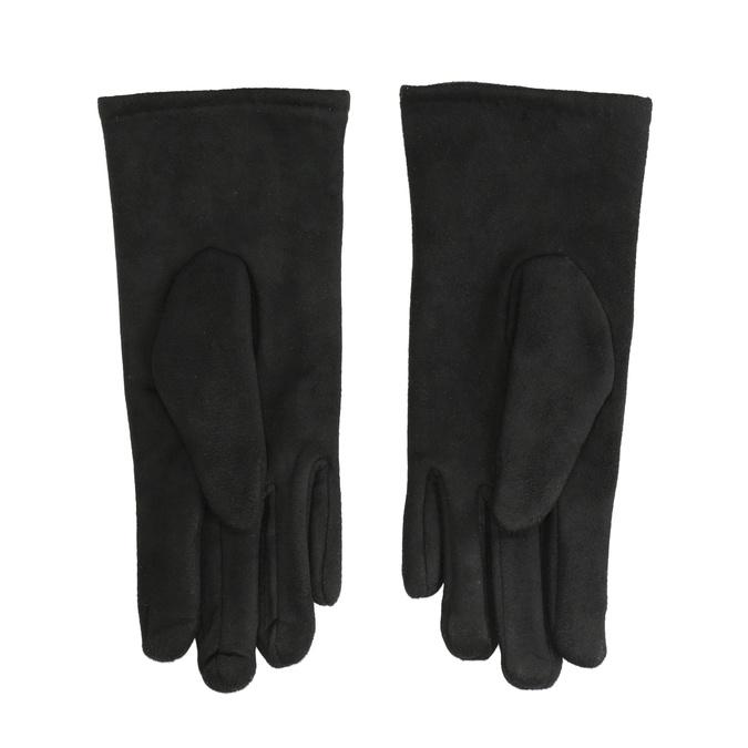 Ladies' textile gloves bata, black , 909-6612 - 16