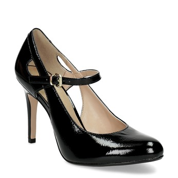 Patent pumps with cut-outs insolia, black , 721-6614 - 13