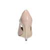Pinkish cream-colored pumps with cut-outs insolia, pink , 721-8614 - 15