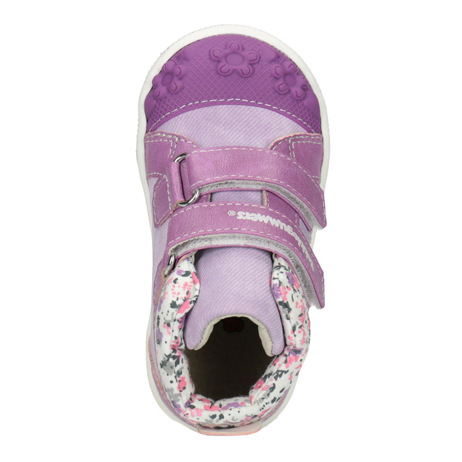 Kids' hi-top sneakers with a pattern bubblegummer, violet , 121-9618 - 15