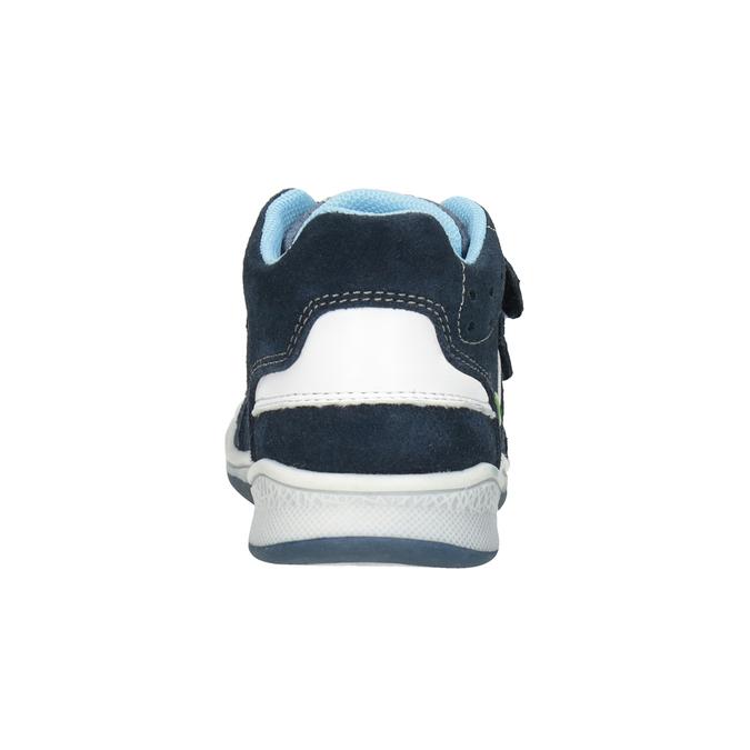 Kids' leather ankle boots bubblegummer, blue , 113-9603 - 16