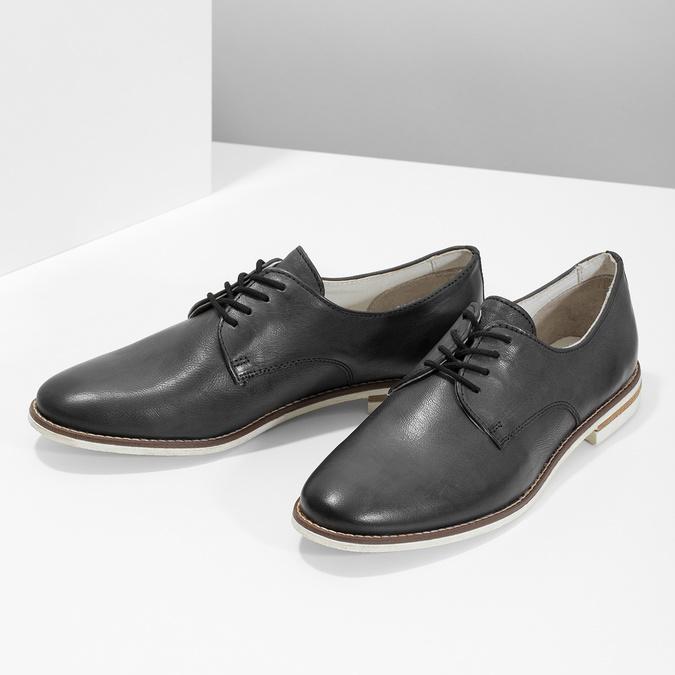 Ladies' leather shoes bata, black , 526-6650 - 16
