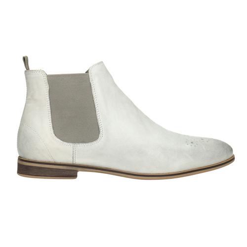 Ladies' Chelsea style boots bata, white , 596-1684 - 26