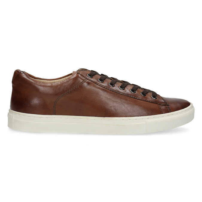 Men's Leather Sneakers bata, brown , 846-4648 - 19