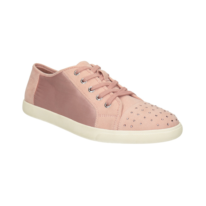 Ladies' casual sneakers with small rhinestones, 549-5607 - 13