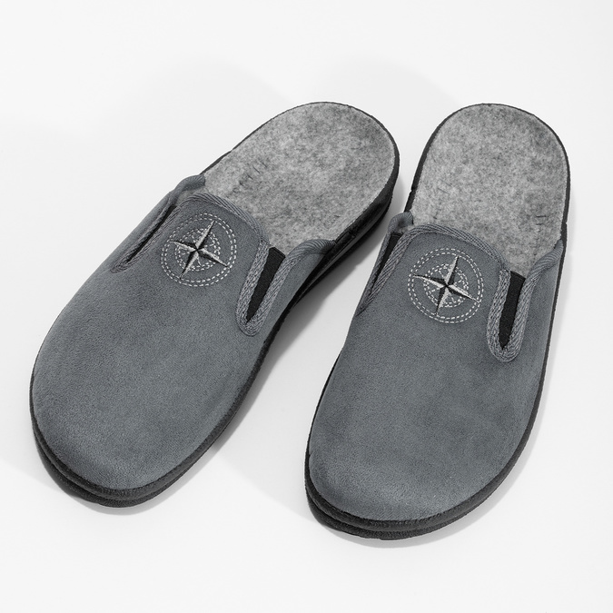 Men's Slippers bata, gray , 879-2610 - 16