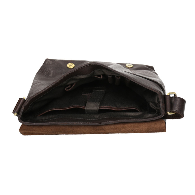 Men's Leather Bag bata, brown , 964-4234 - 15